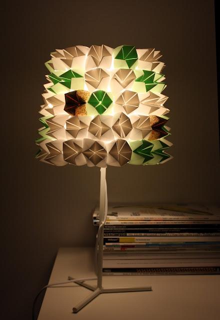 fosfeno candeeiro de mesa origami