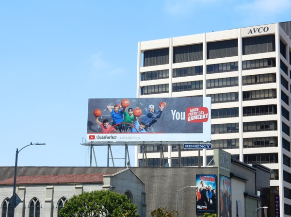 Dude Perfect YouTube basketball billboard