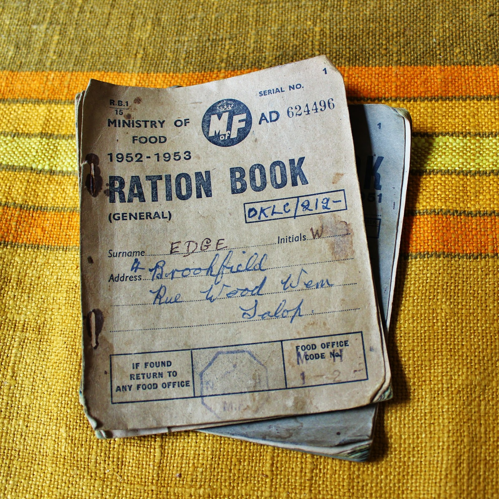 The Curious Tea Room Oswestry Ration Book