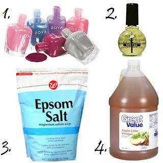 Zoya, Cuticle Oil, Epsom Salt, Apple Cider Vinegar