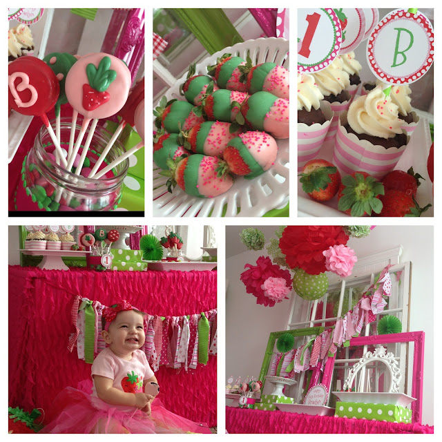 NatalieKMudd: Strawberry Theme Birthday Party