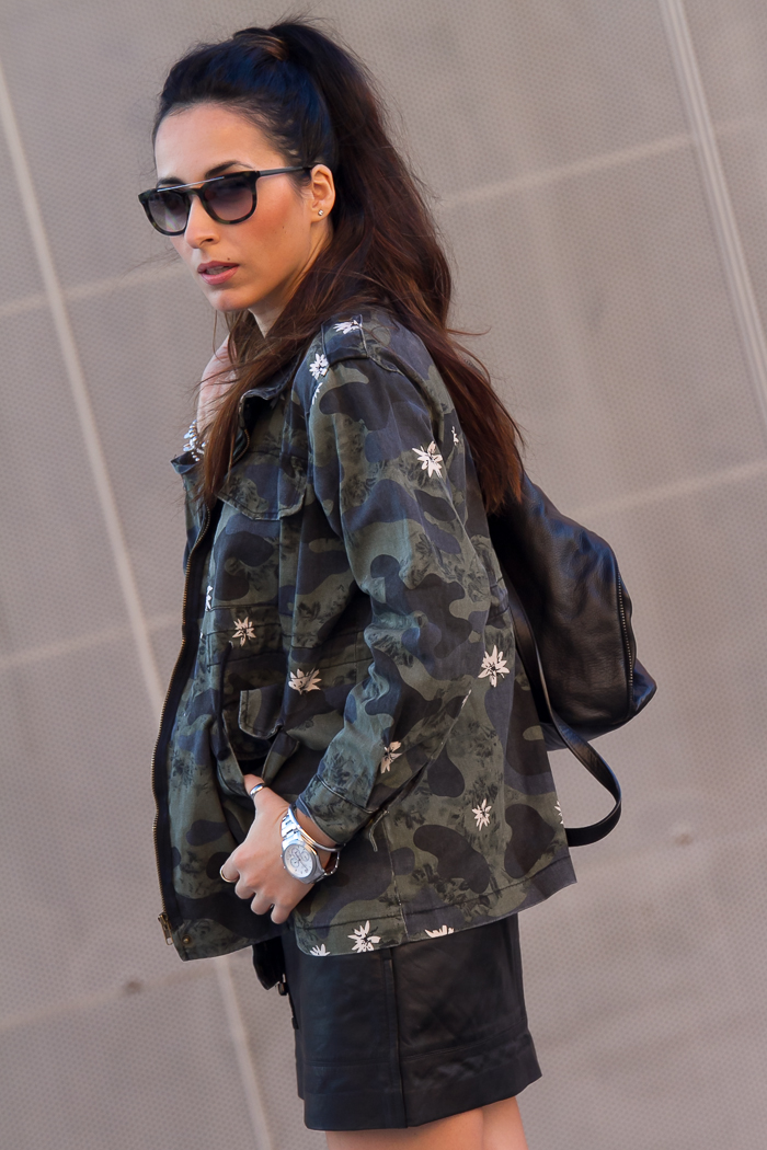 Fashion blogger who loves leather pieces and camo print