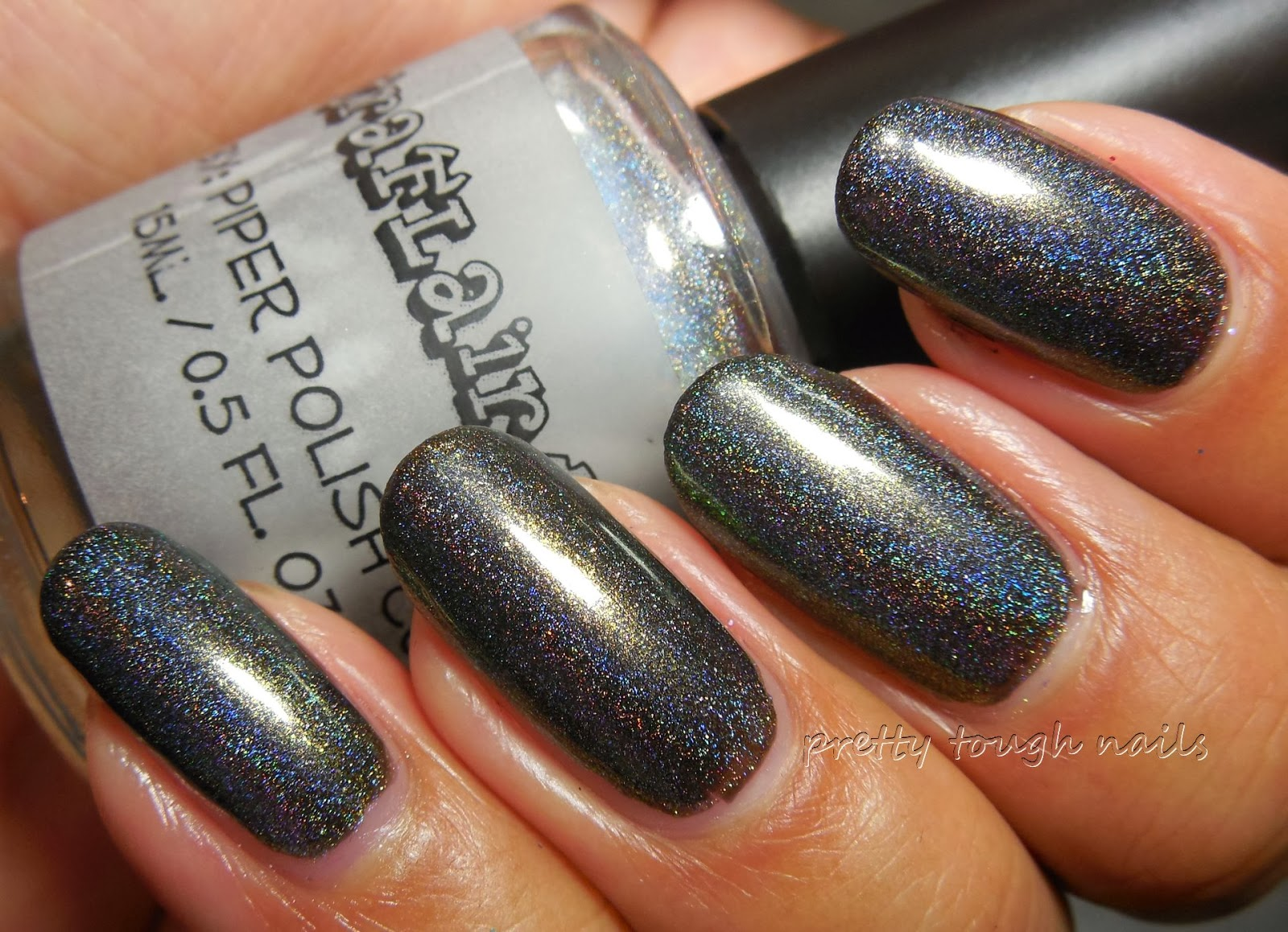 Cirque Lichen With Piper Polish Spectraflair Topcoat