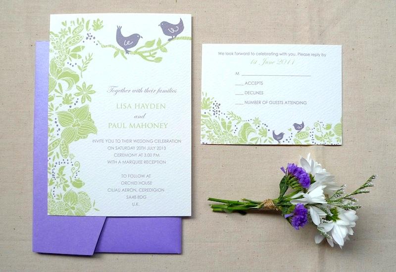 Kalo make art bespoke wedding invitation designs in house wedding in house wedding invitation hong kong garden birds stopboris Choice Image