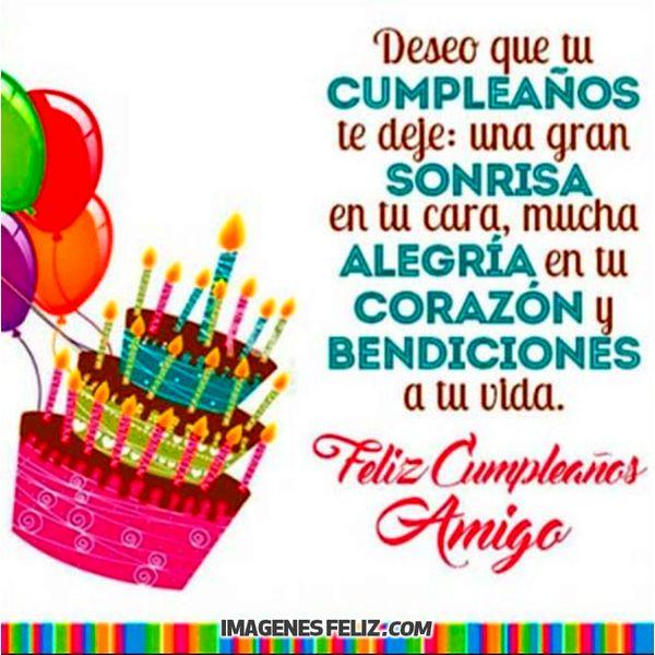Feliz Cumpleaños Amigo Imágenes Frases Bonitas