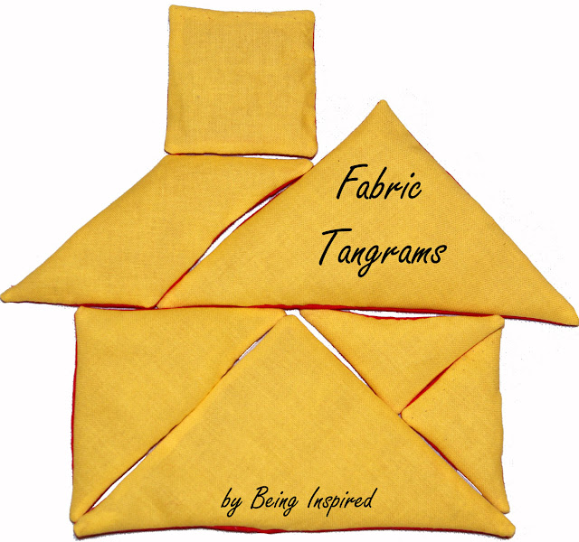 Fabric Tangram House - Free Template
