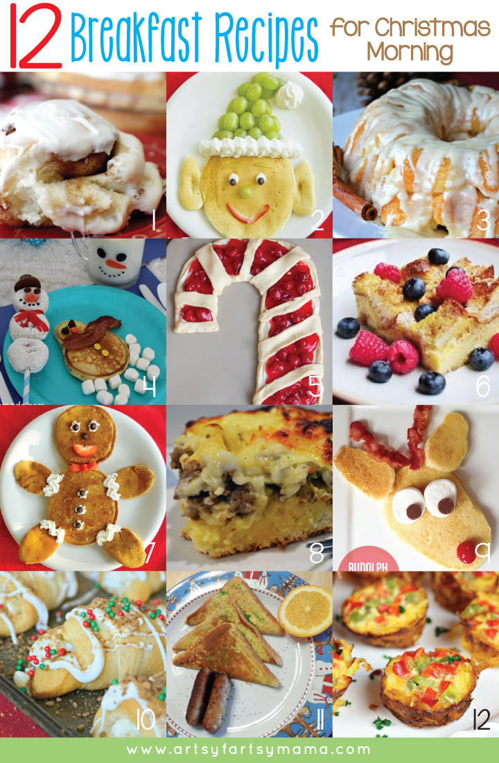 12 Breakfast Recipes for Christmas Morning at artsyfartsymama.com #Christmas #recipe #breakfast