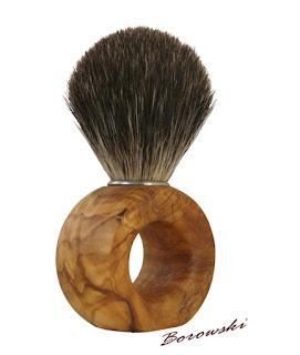 Pędzel do golenia na mokro - oliwka