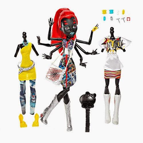 JUGUETES - MONSTER HIGH  Wydowna Spider I Love Fashion | Muñeca  Weberella con 2 conjuntos de moda  Producto Oficial 2014 | Mattel CBX44 | A partir de 6 años