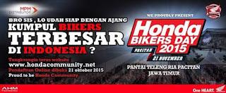 Ajang kumpul bikers terbesar se Indonesia? Honda Bikers Day 2015!