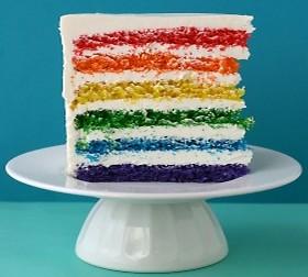 resep rainbow cake enak lezat manis