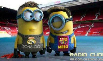 Minions Messi y Cristiano Ronaldo - Futbol Parodia