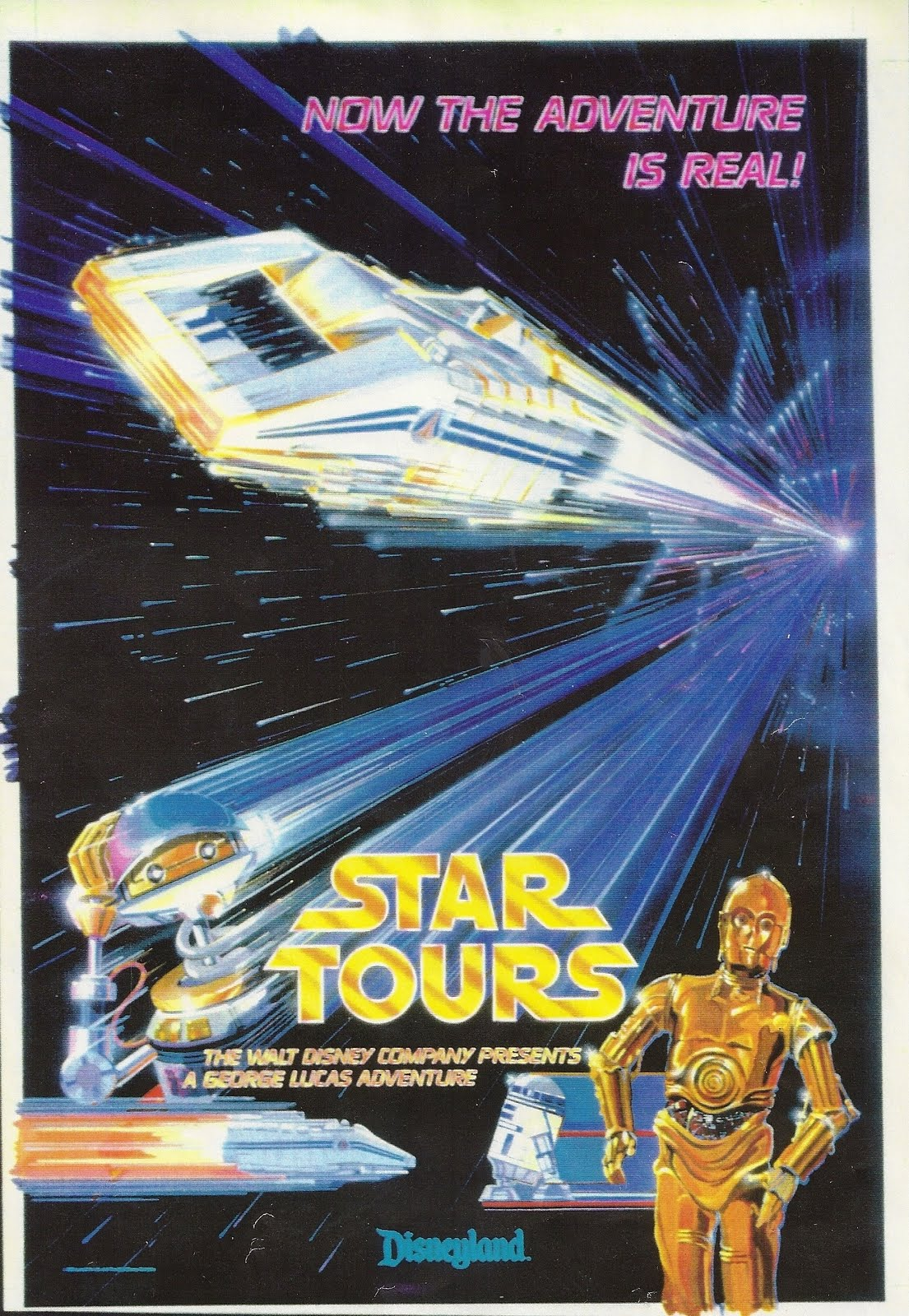 Above Is The Raw Art For Disneylands First Star Tours Poster Of 1987 Tim Delaney WDI Painted Original And Final Was Lithographed Not