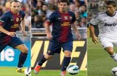 Messi, Cristiano Ronaldo e Iniesta candidatos a mejores futbolistas de la UEFA