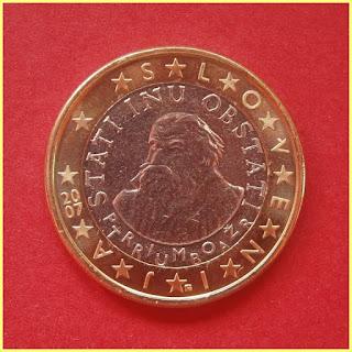 1 Euro Eslovenia Primož Trubar