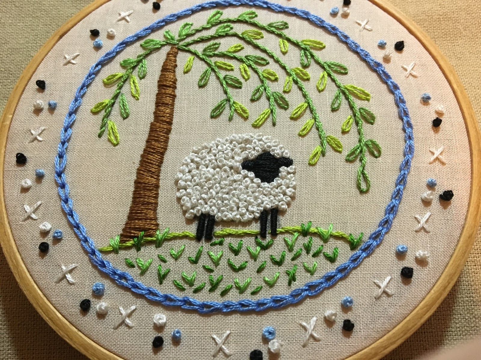 Mooshiestitch Another French Knot Sheep