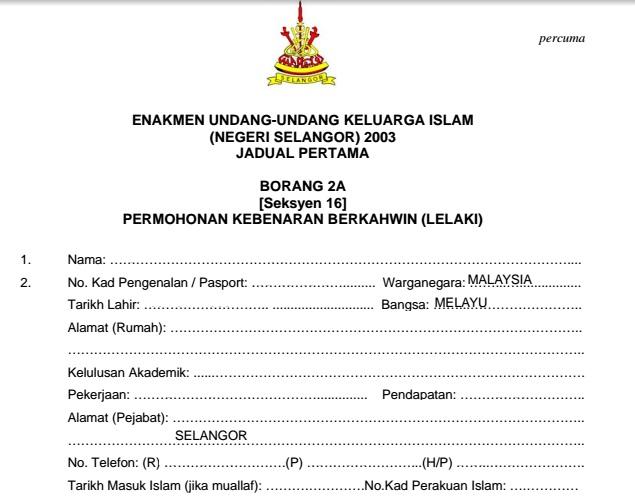 Prosedur Permohonan Nikah Negeri Selangor 2015 Ncr Blog Cik Az