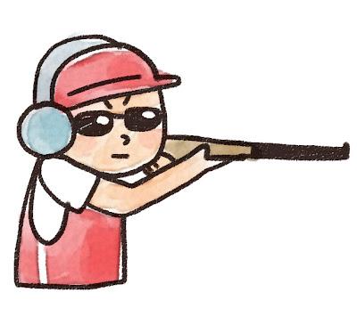 射撃をしている人のイラスト
