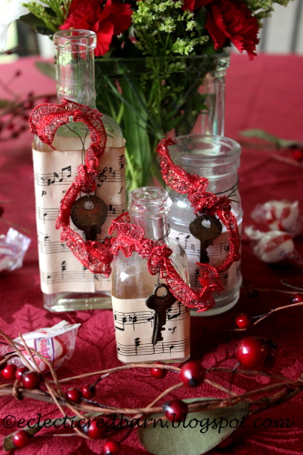 Eclectic Red Barn: Decorating old bottles