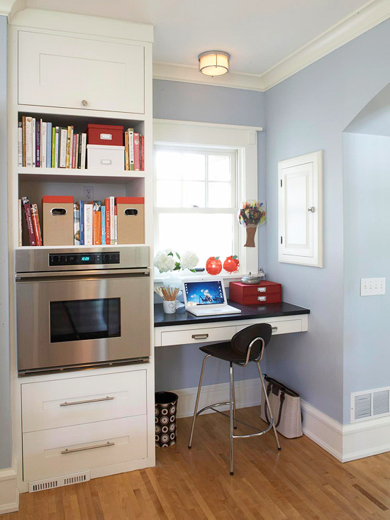 15 small space home office design ideas home designs plans for Small home office layout ideas