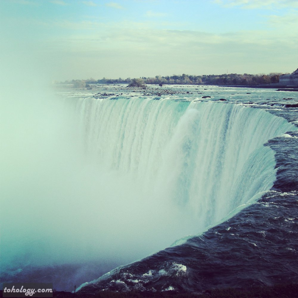 how to draw waters niagara falls