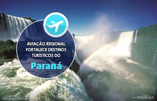 Aviação Regional fortalece destinos turísticos do Paraná