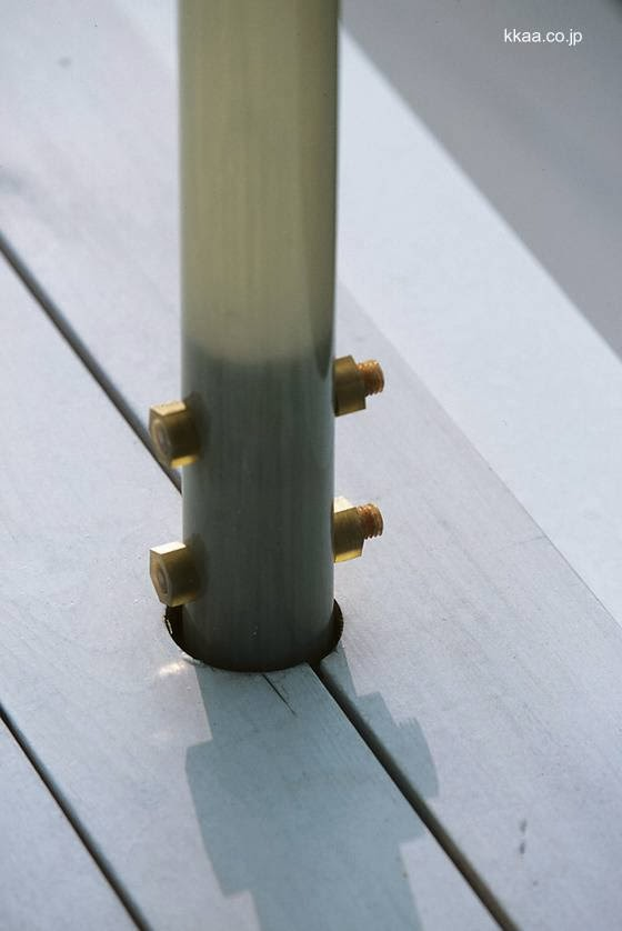 Detalle de la construcción fijación de un poste