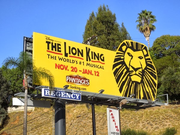 Lion King Musical billboard