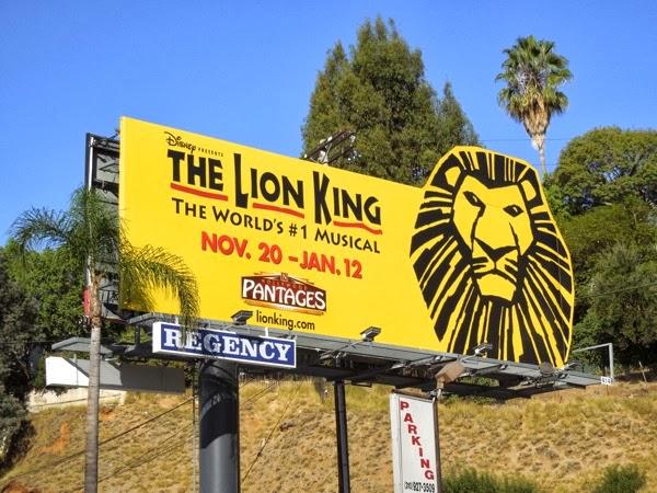 Lion King Musical billboard