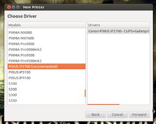 Konfigurasi Printer di Ubuntu