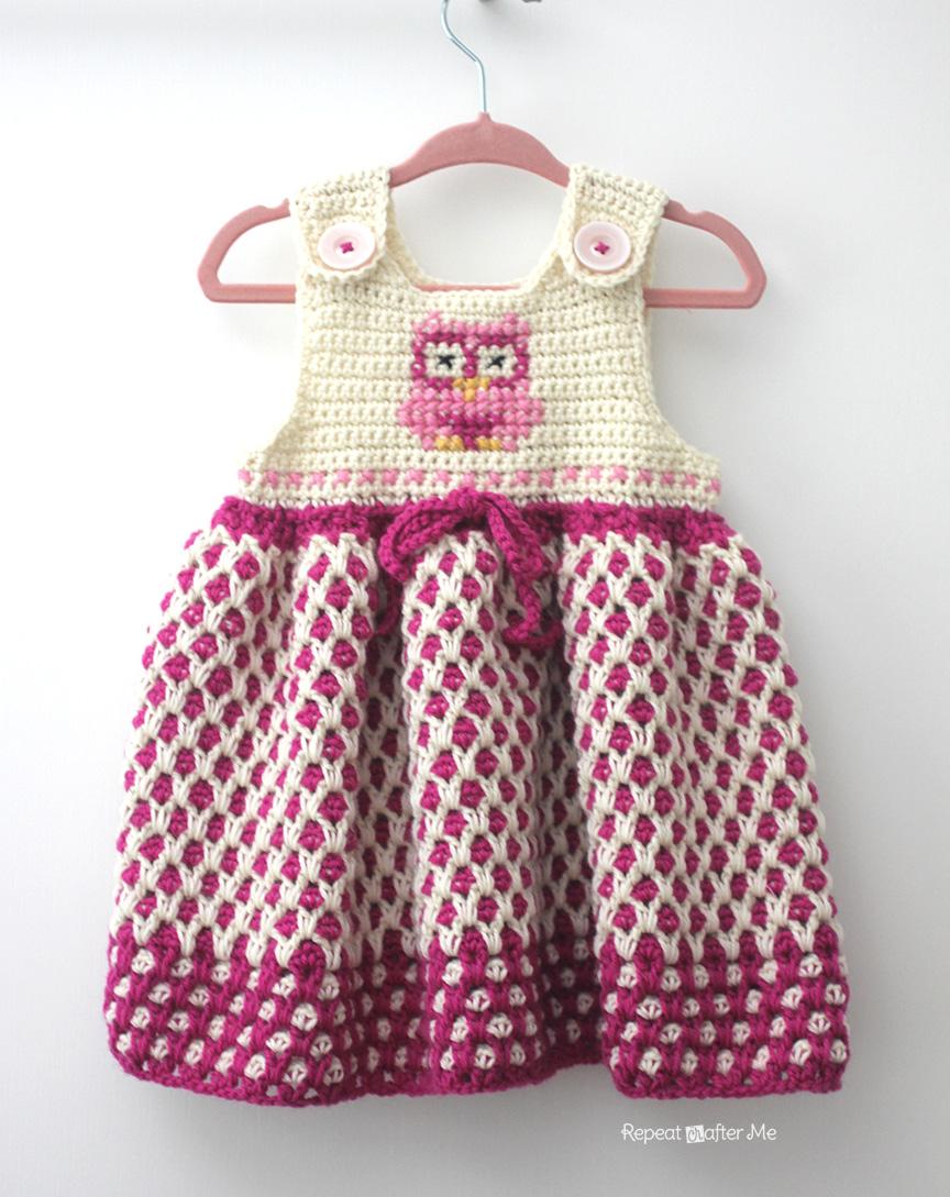 ergahandmade: Crochet Baby Dress + Free Pattern