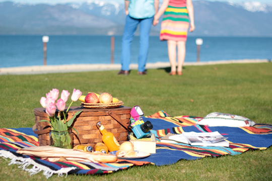 Sandpoint beach romantic picnic
