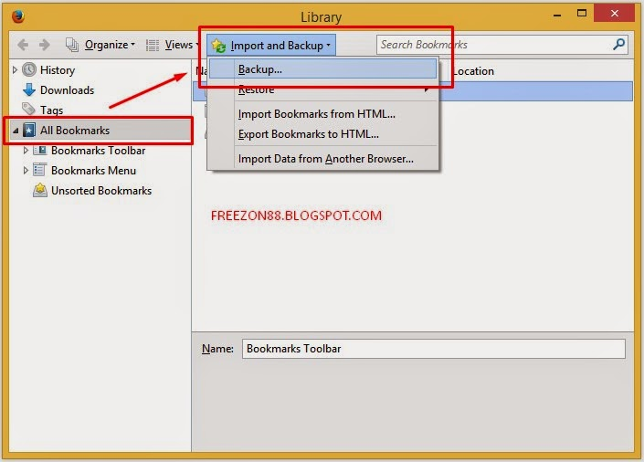 Cara Backup Bookmarks di Mozilla Firefox