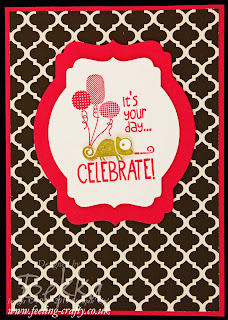 Tag It Birthday Card by UK based Stampin' Up! Demonstrator Bekka Prideaux - check out her blog for lots of cute ideas