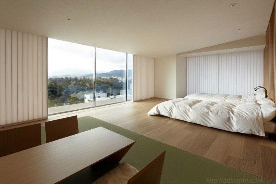 thiết kế phòng ngủ phong cách Nhật