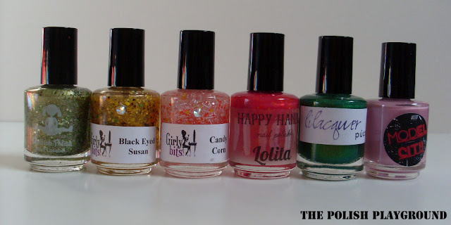 dollish polish, girly bits, happy hands, lilacquer, model city