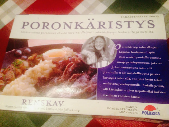 Poronkäristys reindeer meat package