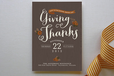 thanksgiving fall autumn party invite invitation faux+bois wood grain minted