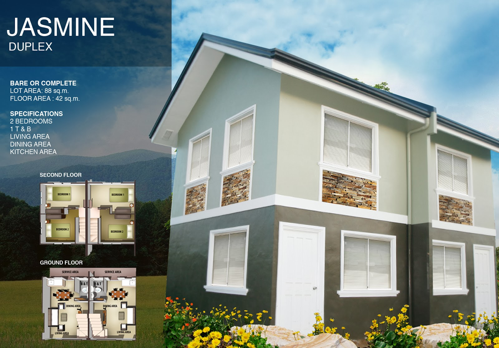 ALTA TIERRA House and Lot 1ride to Alabang, GMA Cavite, DUPLEX
