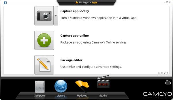 برنامج Cameyo لتحويل البرامج الى برامج محمولة بدون تثبيت