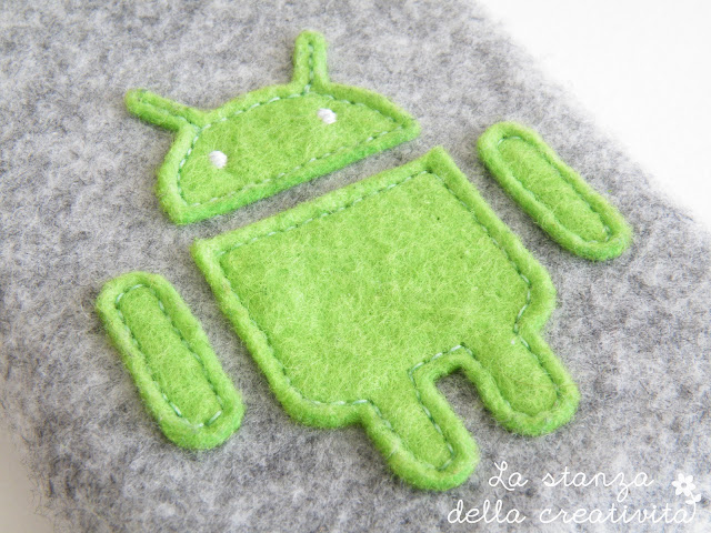 Portacellulare Android in feltro