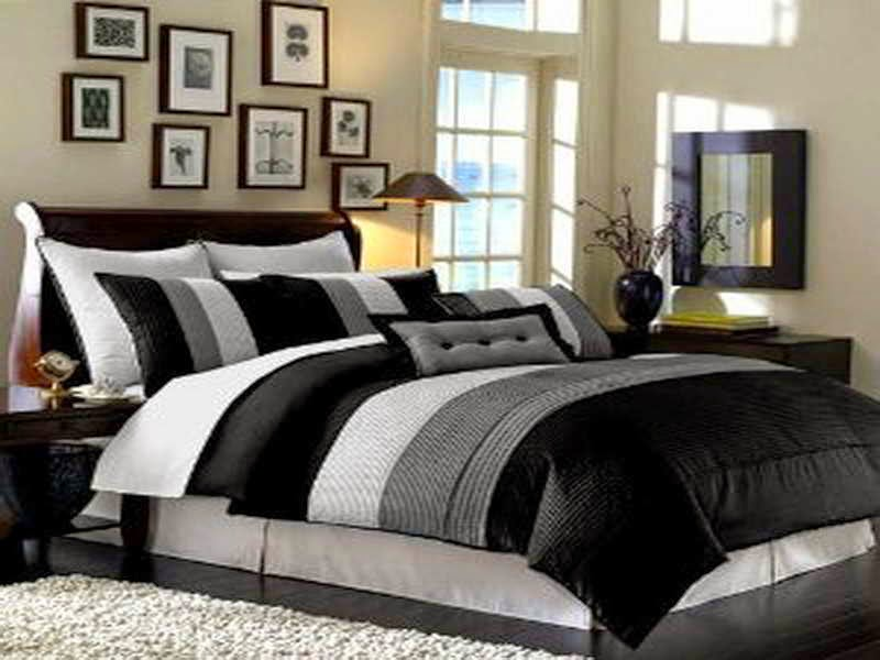 Black and Cream Bedding King