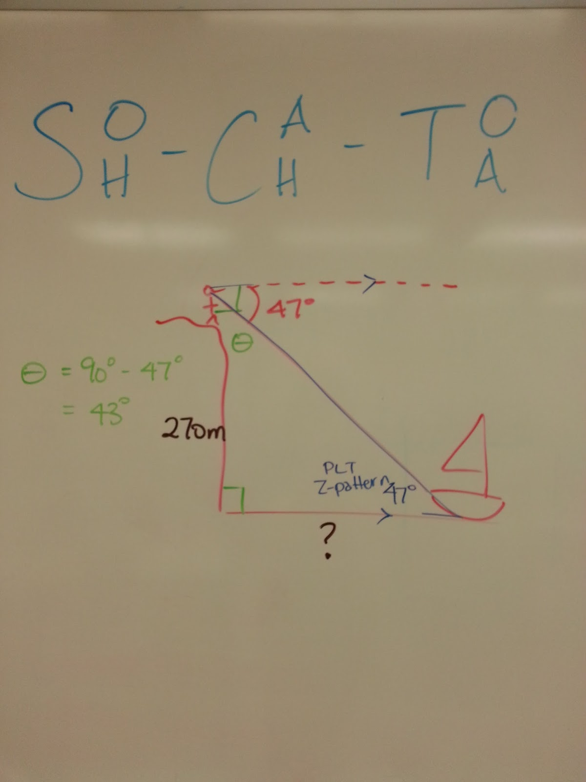 M^3 (Making Math Meaningful): MPM2D - Day 23: Trig Word Problems