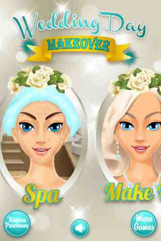 Wedding Day Makeover, iPhone Girl games Free Download, iPhone Applications
