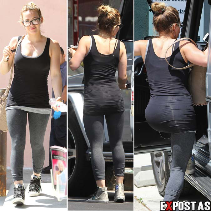 Hilary Duff deixando sua aula de pilates -  Hollywood - 23 de Abril de 2013