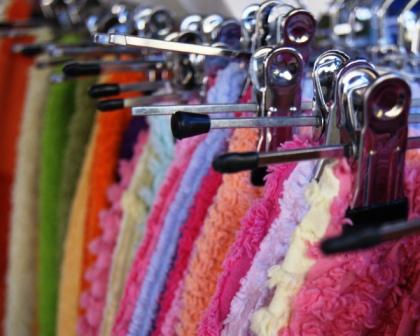clothes handmade on hangers at regional stallholders markets