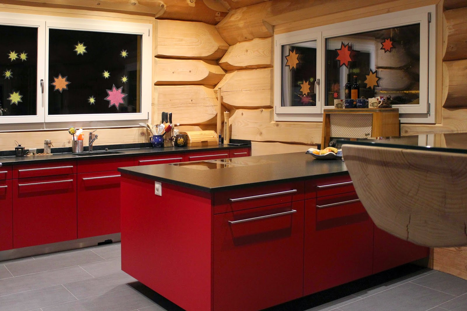 Küchenblog: Moderne Küche im Blockhaus | {Moderne küchen altholz 43}