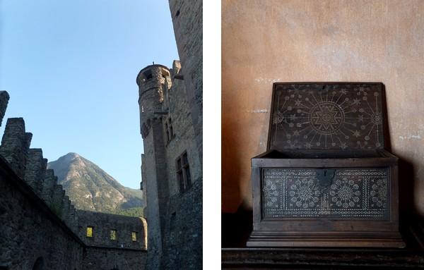 aoste aosta italie vallée val château fenis