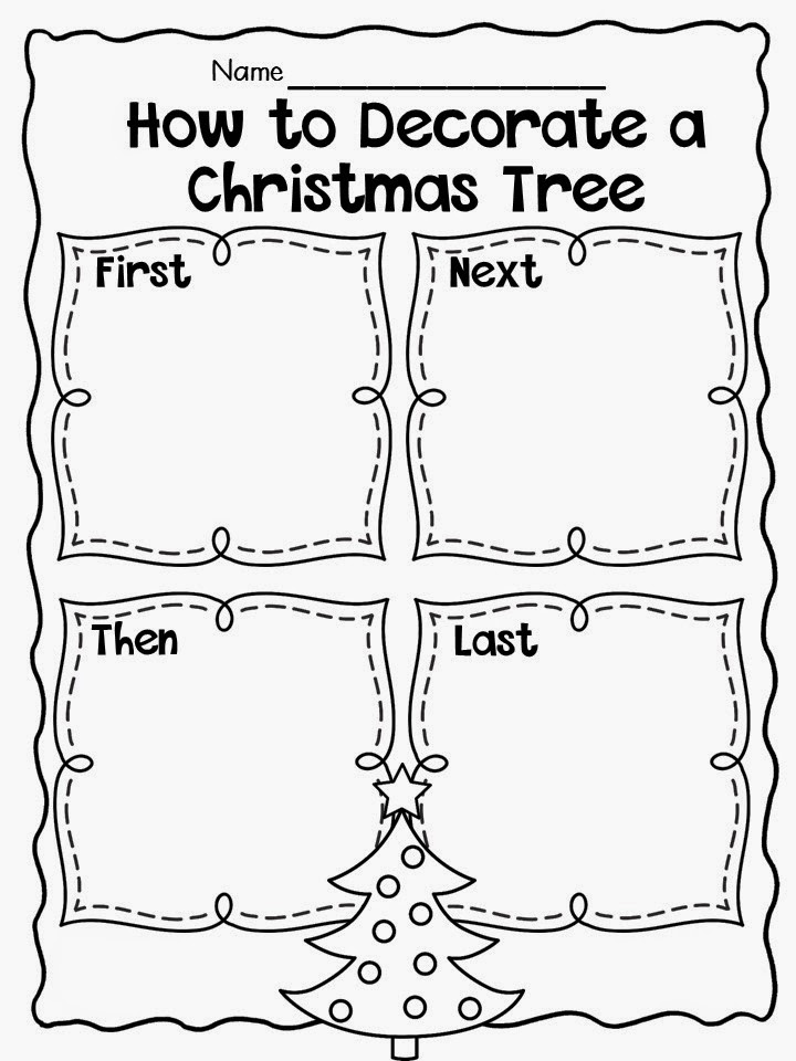 Decorate Christmas Tree Worksheet : December writing freebies primary chalkboard lovin