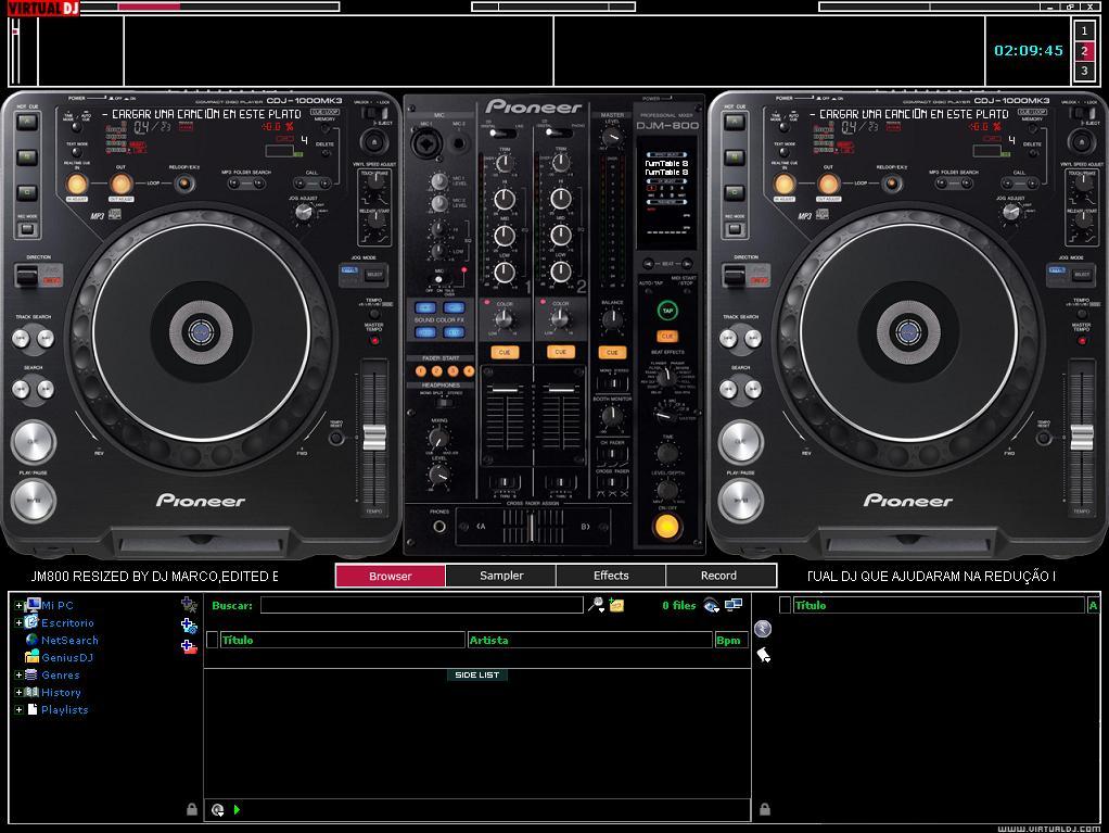 Skin VDJ PIONEER CDJ 1000 DJM800 BY DJ MARCO   DJ MIZAO